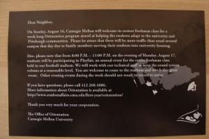 CMU postcard back
